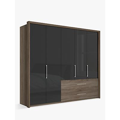 John Lewis Satis Combi Storage 250cm Wardrobe with Glass Hinged Doors