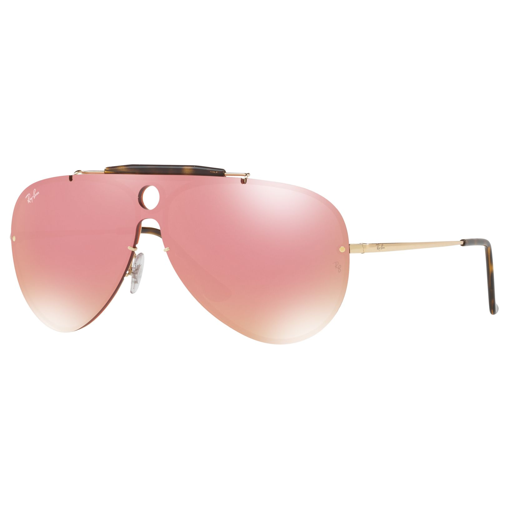 Ray-ban Ray-Ban RB3581N Unisex Pilot Sunglasses, Gold/Pink