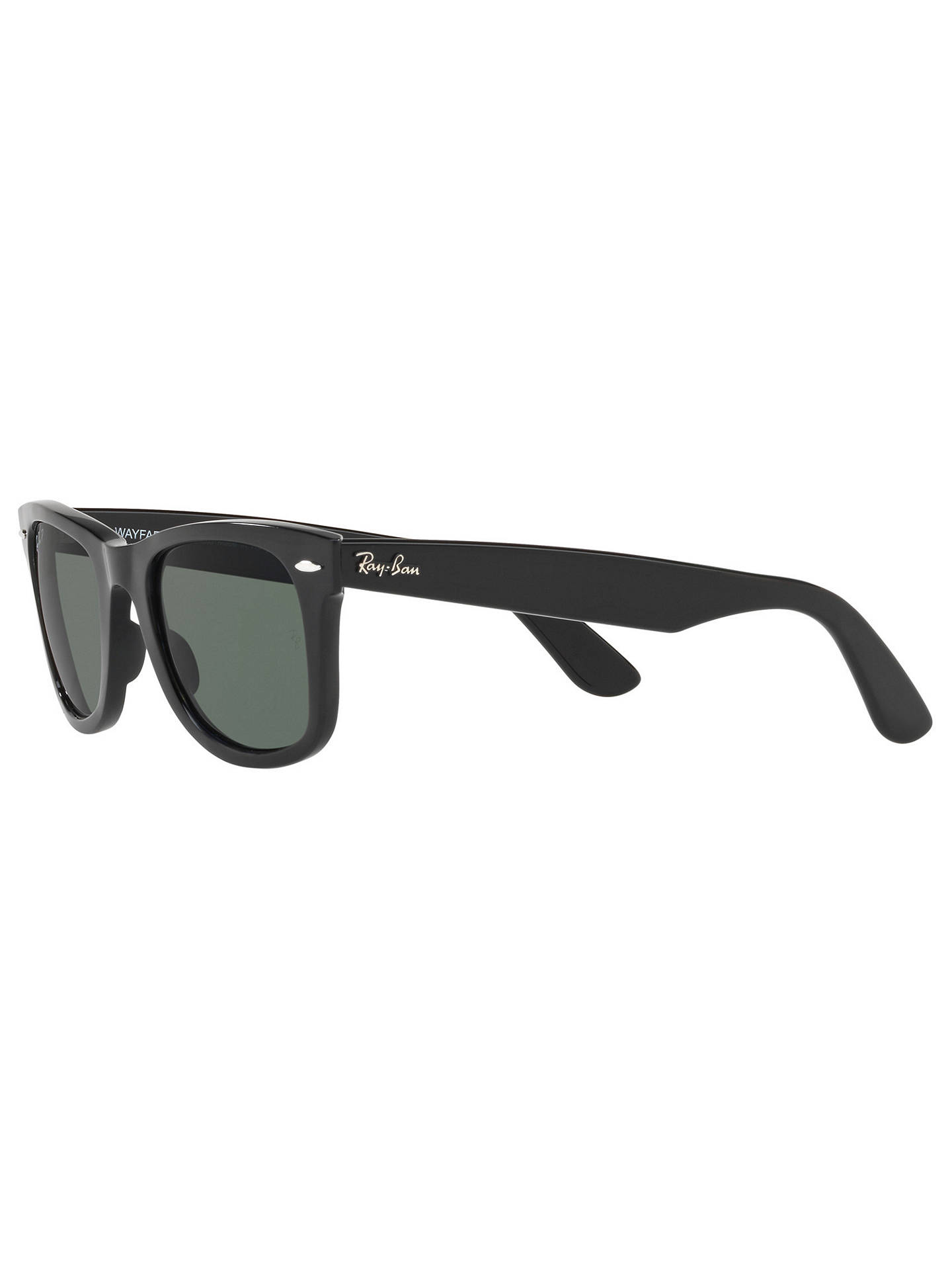 BuyRay-Ban RB4340 Polarised Wayfarer Sunglasses, Black/Grey Online at johnlewis.com