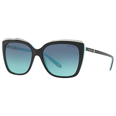 Tiffany & Co TF4135B Oversize Square Sunglasses, Black/Blue Gradient