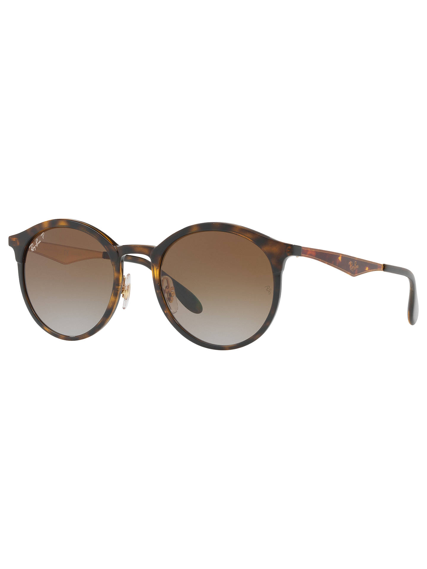 Buy Ray-Ban RB4277 New Emma Polarised Oval Sunglasses, Tortoise/Brown Gradient Online at johnlewis.com