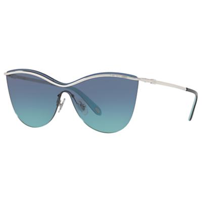 Tiffany & Co TF3058 Cat's Eye Sunglasses, Silver/Blue Gradient