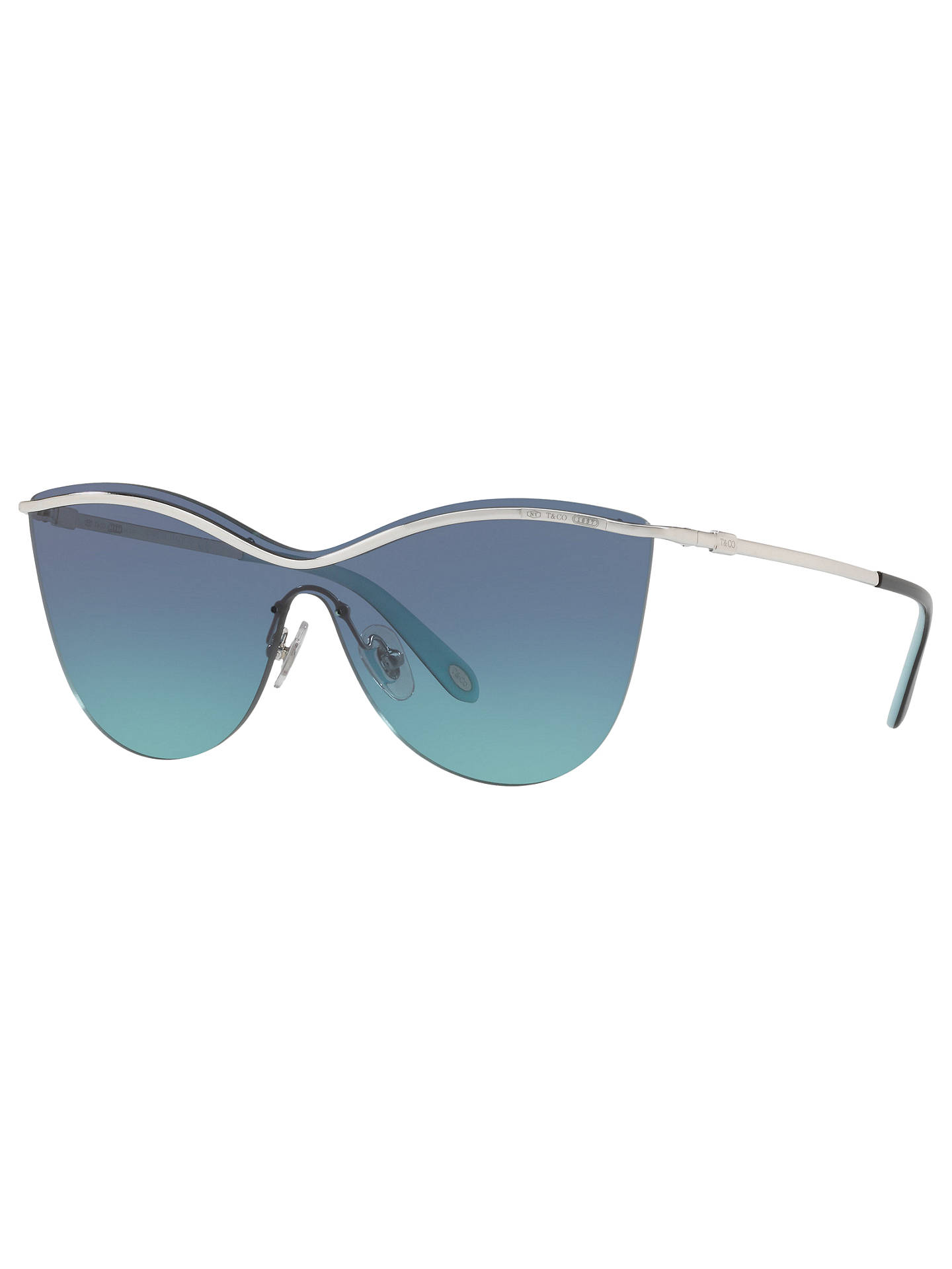 BuyTiffany & Co TF3058 Cat's Eye Sunglasses, Silver/Blue Gradient Online at johnlewis.com