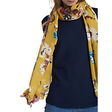 Buy Joules Wensley Posy Print Scarf, Ochre/Multi Online at johnlewis.com