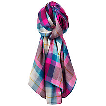 Buy Joules Julianne Wool Check Scarf, Multi Online at johnlewis.com