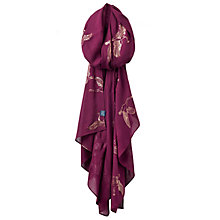 Buy Joules Orna Scarf, Burgundy Online at johnlewis.com