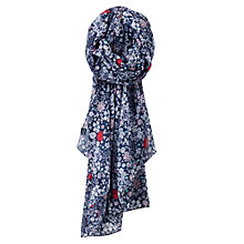 Buy Joules Wensley Printed Scarf, Navy Online at johnlewis.com