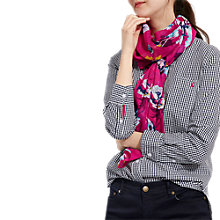 Buy Joules Wensley Posy Scarf, Pink/Multi Online at johnlewis.com