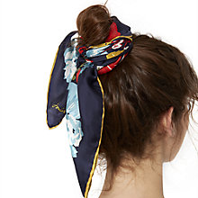 Buy Joules Bloomfield Silk Scarf, Navy/Multi Online at johnlewis.com