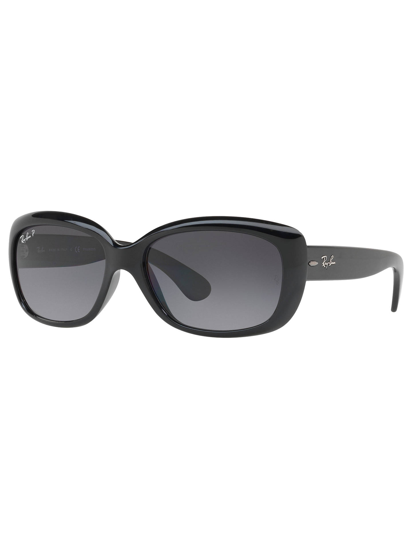 5c85a1e276a Ray-Ban RB4101 Polarised Jackie Ohh Rectangular Sunglasses at John ...