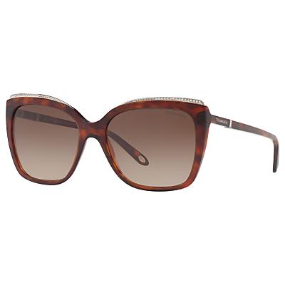 Tiffany & Co TF4135B Oversize Square Sunglasses, Tortoise/Brown Gradient