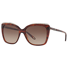 Buy Tiffany & Co TF4135B Oversize Square Sunglasses, Tortoise/Brown Gradient Online at johnlewis.com