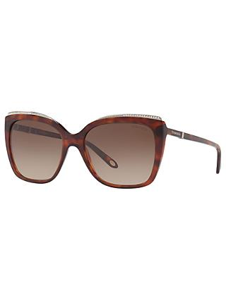 Tiffany & Co TF4135B Oversize Square Sunglasses, Tortoise/Brown Gradient