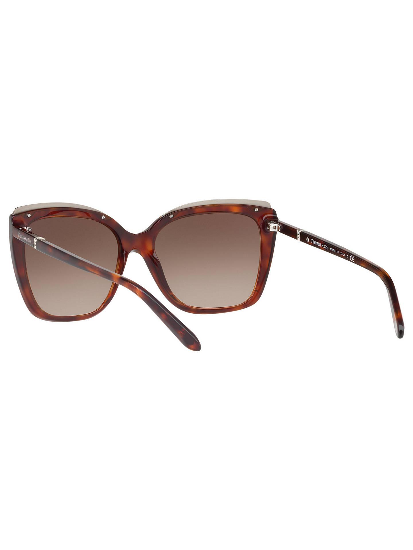 82999bb5d7 Tiffany & Co TF4135B Oversize Square Sunglasses, Tortoise/Brown Gradient