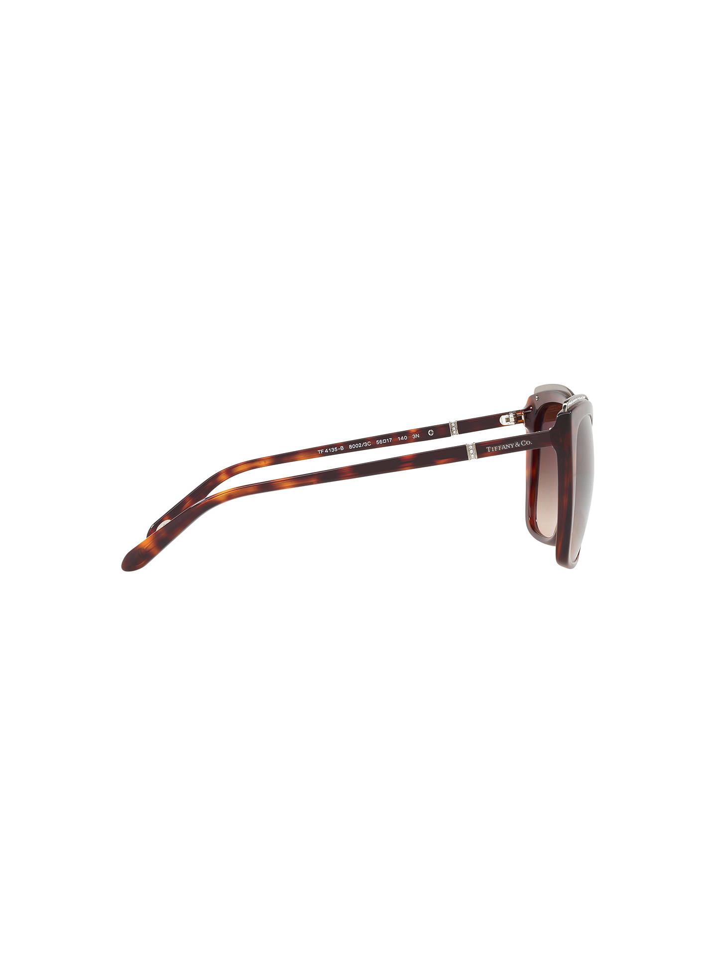 BuyTiffany & Co TF4135B Oversize Square Sunglasses, Tortoise/Brown Gradient Online at johnlewis.com