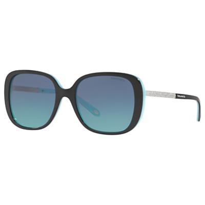 Tiffany & Co TF4137B Square Sunglasses, Black/Blue Gradient