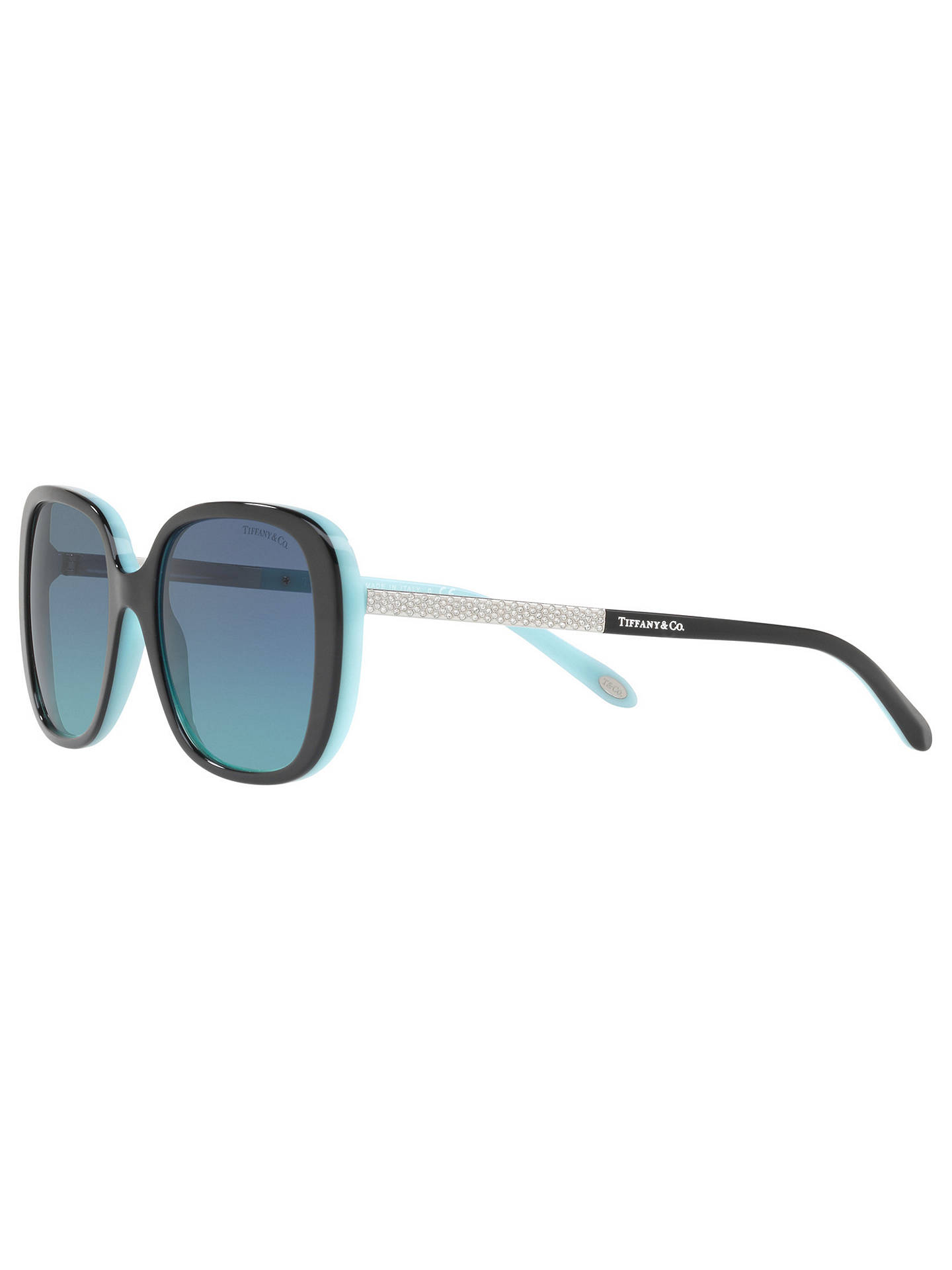 Buy Tiffany & Co TF4137B Square Sunglasses, Black/Blue Gradient Online at johnlewis.com