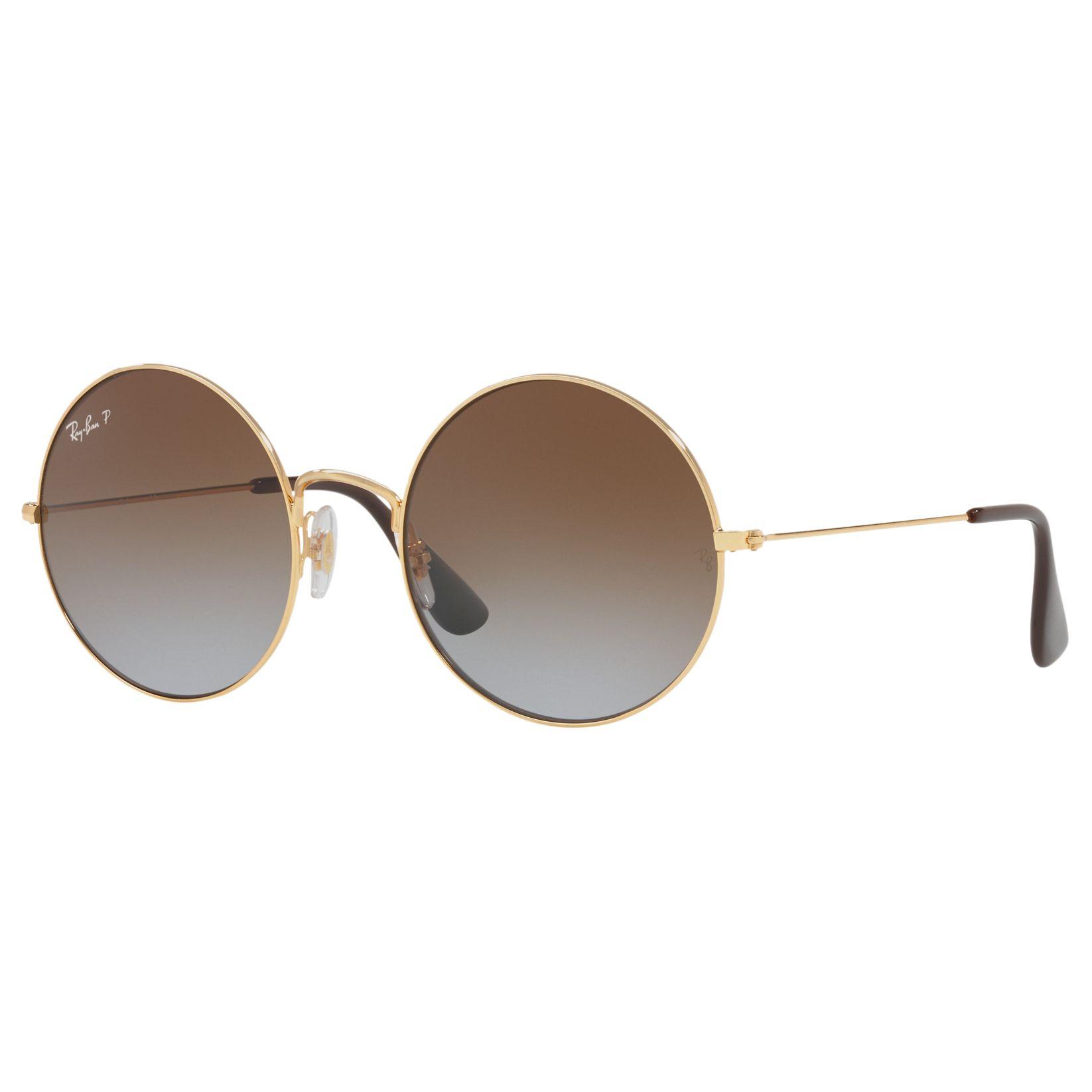 Ray-ban Ray-Ban RB3592 Ja-Jo Polarised Round Sunglasses, Brown