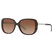 Buy Tiffany & Co TF4137B Square Sunglasses, Tortoise/Brown Gradient Online at johnlewis.com