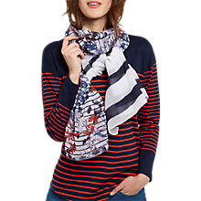 Buy Joules Wensley Scarf, White/Multi Online at johnlewis.com