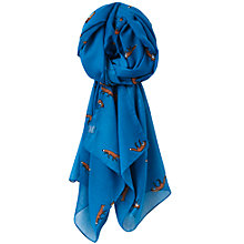 Buy Joules Wensley Fox Scarf, Topaz Online at johnlewis.com