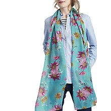Buy Joules Wensley Floral Print Scarf, Teal/Multi Online at johnlewis.com