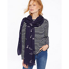 Buy Joules Orna Scarf, French Navy Online at johnlewis.com