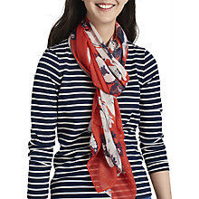 Buy Joules Wensley Posy Print Scarf, Red/Multi Online at johnlewis.com