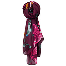Buy Joules Wensley Printed Scarf, Plum Online at johnlewis.com