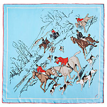 Buy Joules Bloomfield Silk Scarf, Duck Egg/Multi Online at johnlewis.com