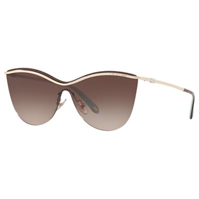 Tiffany & Co TF3058 Cat's Eye Sunglasses, Gold/Brown Gradient