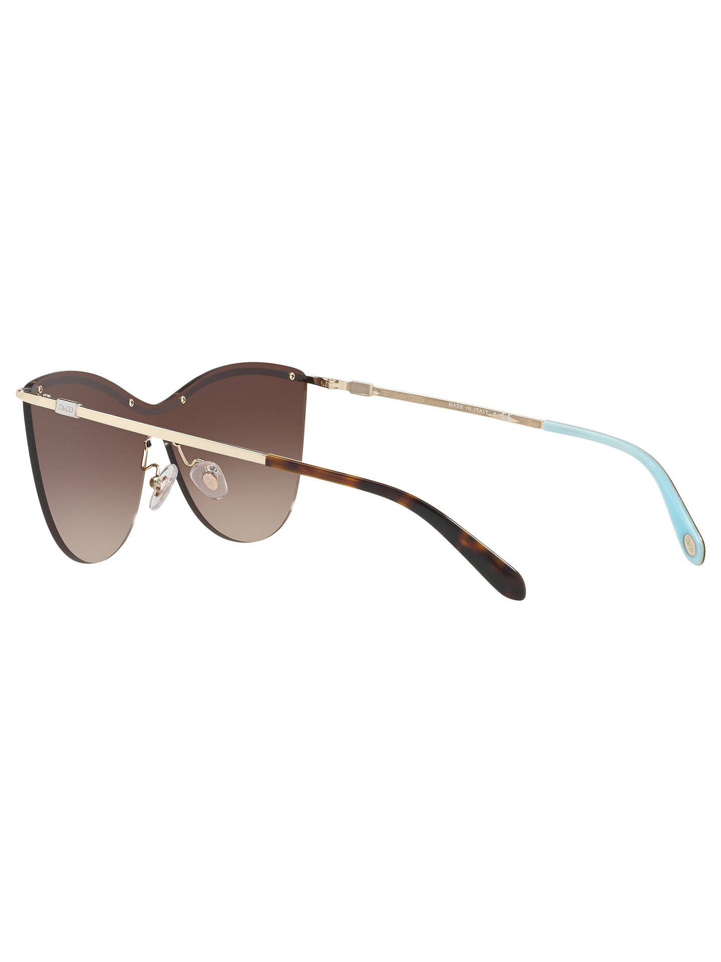 Buy Tiffany & Co TF3058 Cat's Eye Sunglasses, Gold/Brown Gradient Online at johnlewis.com