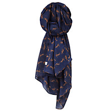 Buy Joules Wensley Hare Print Scarf, Navy Online at johnlewis.com