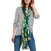 Buy Joules Wensley Floral Printed Scarf, Green Online at johnlewis.com