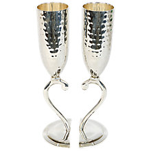 Buy Culinary Concepts Hammered Heart Lovers Cups, Set of 2 Online at johnlewis.com