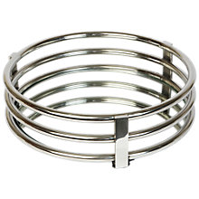 Buy Culinary Concepts Round Ribbed Mirrored Drinks Tray, Silver Online at johnlewis.com