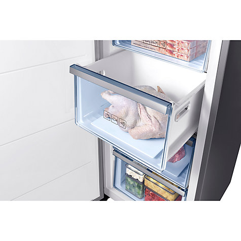 Buy Samsung RZ32M71207F/EU Freestanding Freezer, A+ Energy Rating, 60cm Wide, Silver Online at johnlewis.com