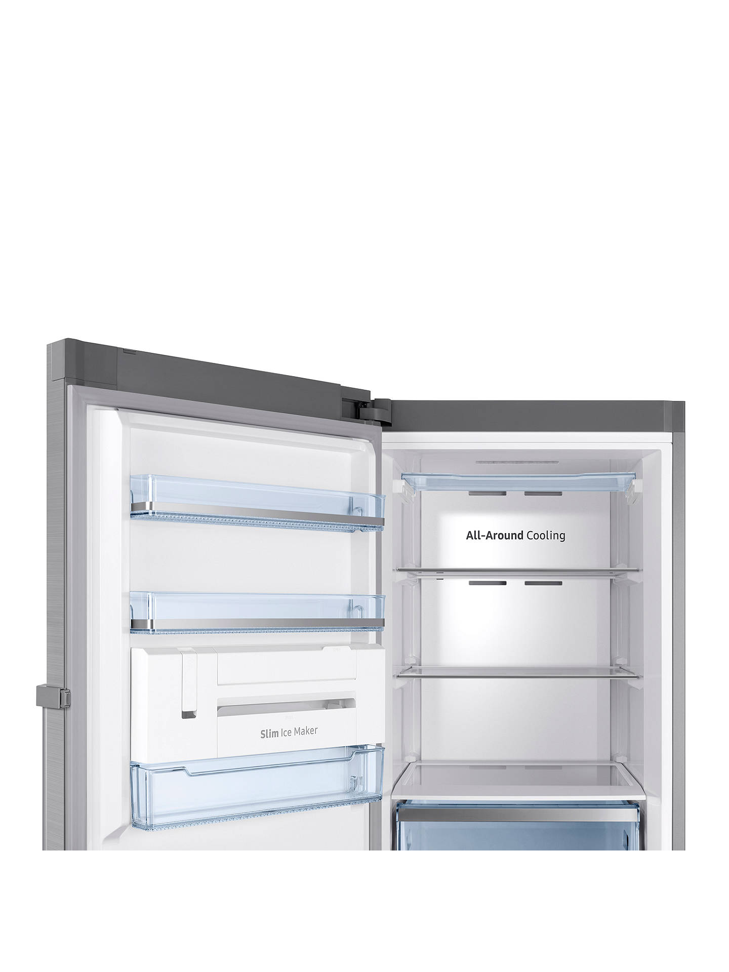 BuySamsung RZ32M71207F/EU Freestanding Freezer, A+ Energy Rating, 60cm Wide, Silver Online at johnlewis.com