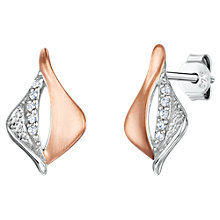 Buy Jools by Jenny Brown Cubic Zirconia Two Toned Melting Diamond Drop Earrings, Silver/Rose Gold Online at johnlewis.com
