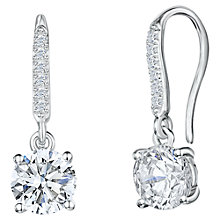 Buy Jools by Jenny Brown Cubic Zirconia Hinged Hook Earrings, Silver Online at johnlewis.com