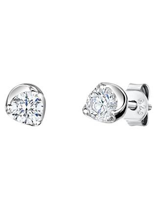 Jools By Jenny Brown Cubic Zirconia Stud Earrings Silver