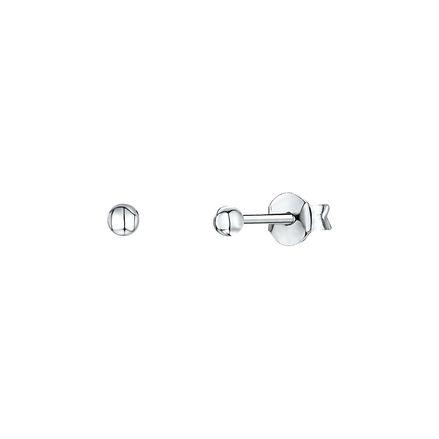 JOOLS by Jenny Brown ® Sterling Silver Earrings - Silver Ball Stud Earrings- Ji09ywdf4