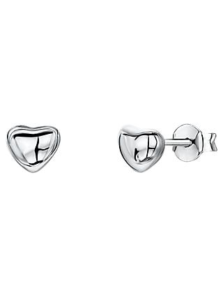 Jools by Jenny Brown Heart Stud Earrings, Silver