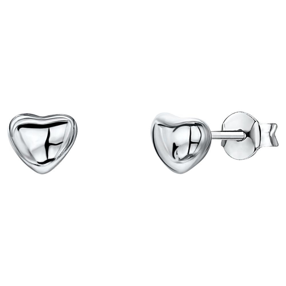 Jools by Jenny Brown Jools by Jenny Brown Heart Stud Earrings, Silver