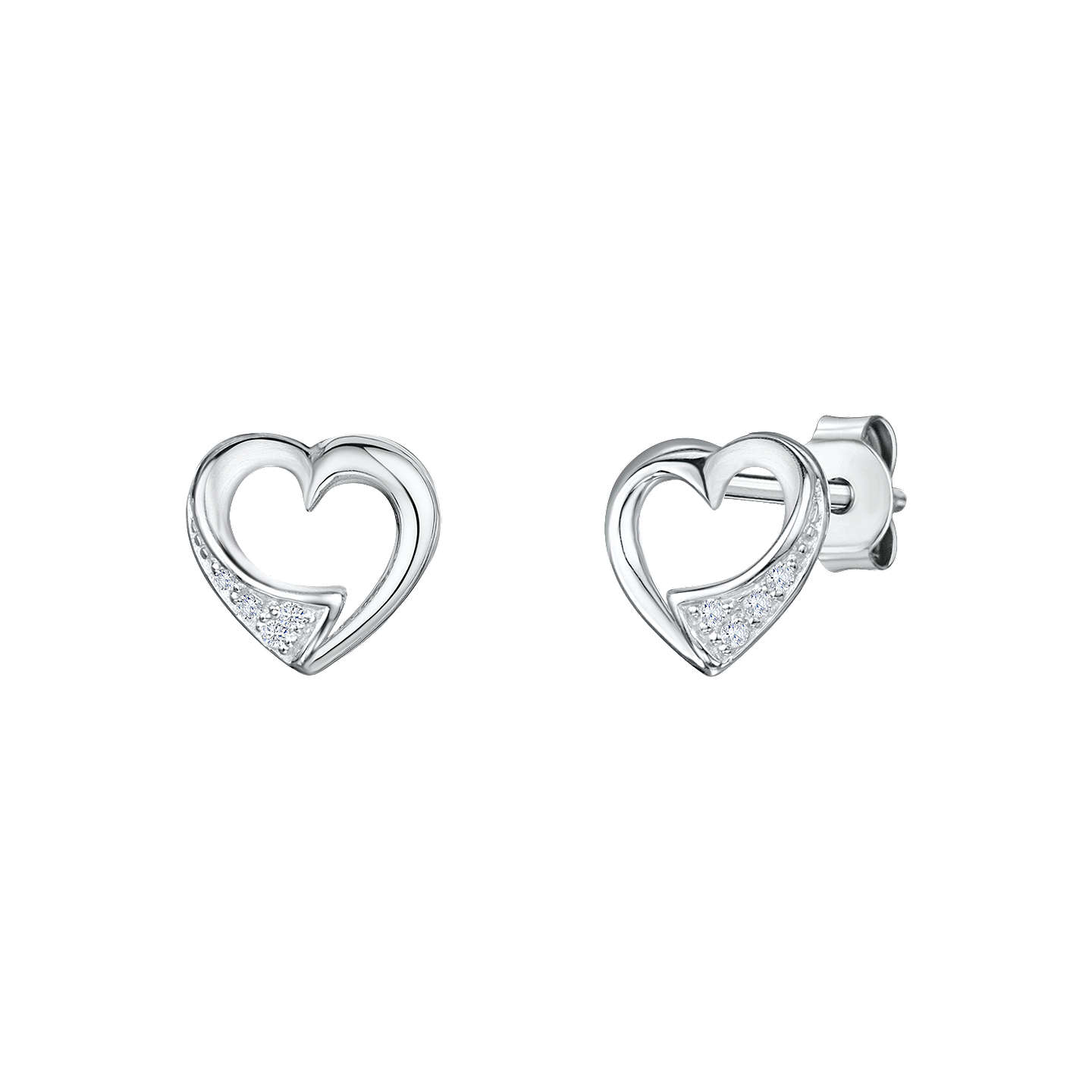 chlobo silver heart image stud openwork from earrings