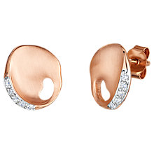 Buy Jools by Jenny Brown Satin Plated Cubic Zirconia Earrings, Rose Gold Online at johnlewis.com