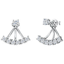 Buy Jools by Jenny Brown Cubic Zirconia Tri-Stemmed Fan Earrings, Silver Online at johnlewis.com