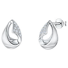 Buy Jools by Jenny Brown Cubic Zirconia Hollow Teardrop Stud Earrings, Silver Online at johnlewis.com