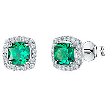 Buy Jools by Jenny Brown Cubic Zirconia Cushion Stud Earrings Online at johnlewis.com