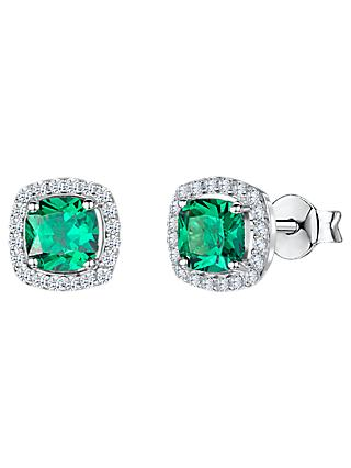 Jools by Jenny Brown Cubic Zirconia Cushion Stud Earrings